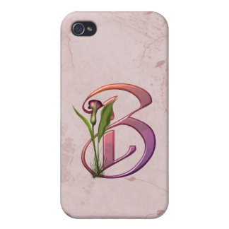Colorful Calla Initial B iPhone 4/4S Covers