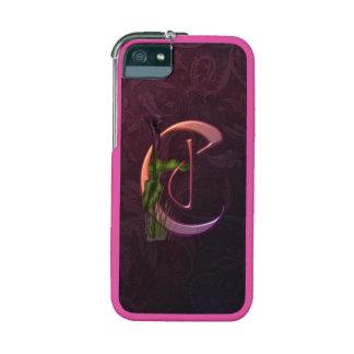 Colorful Calla Initial C iPhone 5 Cases
