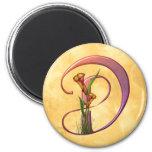 Colorful Calla Initial D Magnet