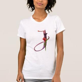 Colorful Calla Initial J Tee Shirt
