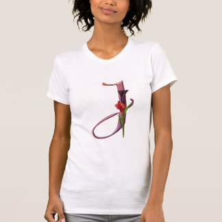 Colorful Calla Initial J T Shirts