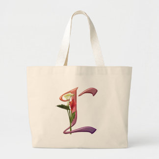 Colorful Calla Initial L Canvas Bags