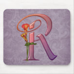 Colorful Calla Initial R Mouse Pad