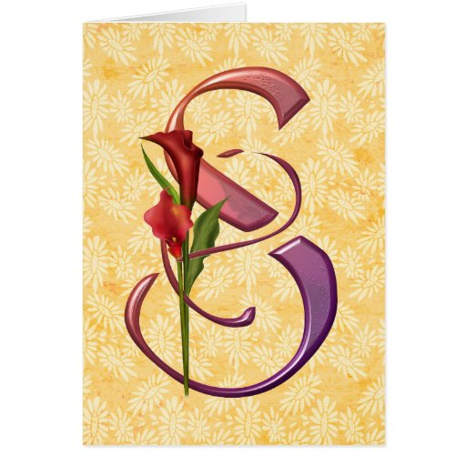 Colorful Calla Initial S Card