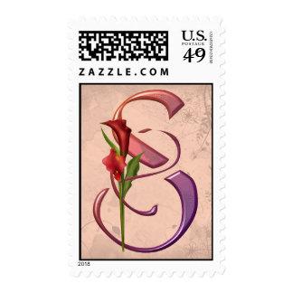 Colorful Calla Initial S Stamp