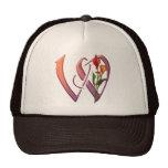 Colorful Calla Initial W Trucker Hat