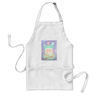 Colorful Calla Lilies in Vase Painting Adult Apron