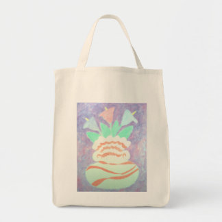 Colorful Calla Lilies in Vase Painting Canvas Bag