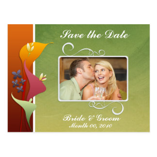 Colorful Calla LiliesSave the Date Photo Postcards