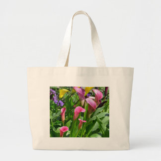 Colorful calla lily flowers bag