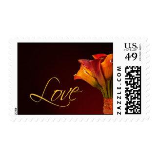 Colorful calla lily love stamp