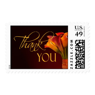 Colorful calla lily thank you postage stamps