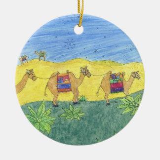 Colorful Camels Ceramic Ornament