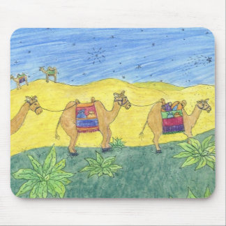 Colorful Camels Mouse Pad