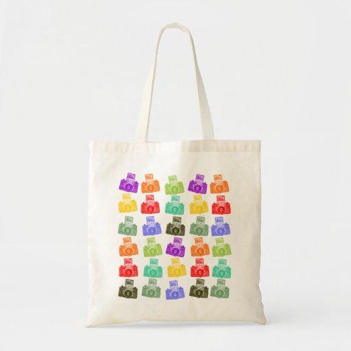 Colorful Cameras Budget Tote Bag