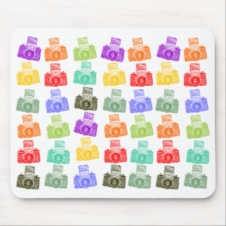 Colorful Cameras Mouse Pad