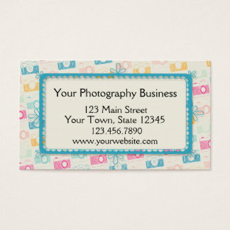 Colorful Cameras, Photographer Business Card