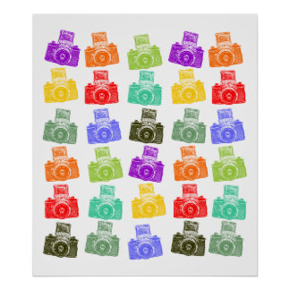 Colorful Cameras Posters