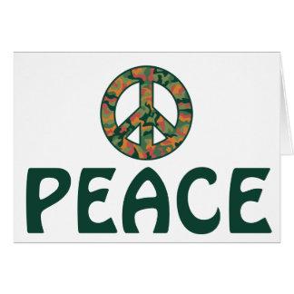 Colorful Camo Peace Card