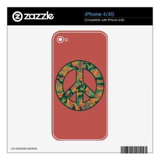 Colorful Camo Peace Decal For iPhone 4