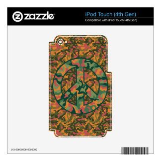 Colorful Camo Peace Decal For iPod Touch 4G