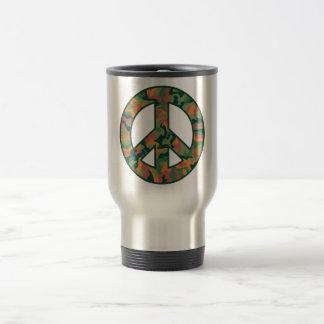 Colorful Camo Peace Travel Mug