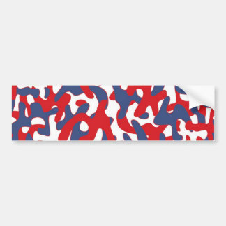 Colorful Camouflage Pattern Bumper Stickers