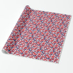 Colorful Camouflage Pattern Gift Wrapping Paper