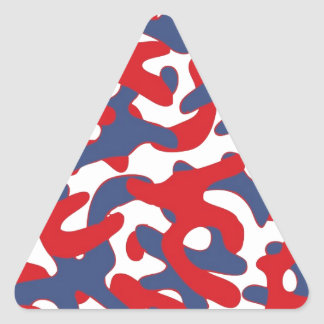 Colorful Camouflage Pattern Triangle Sticker