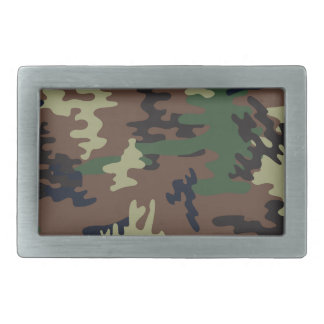Colorful Camouflage seamless pattern Rectangular Belt Buckle
