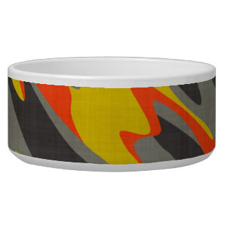Colorful Camouflage Texture Bowl