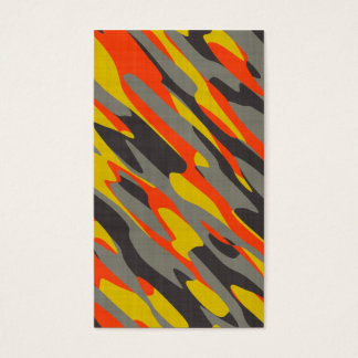 Colorful Camouflage Texture Business Card