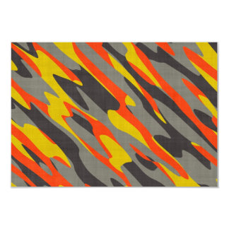 Colorful Camouflage Texture Card
