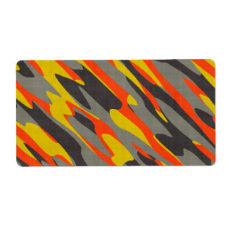 Colorful Camouflage Texture Shipping Label