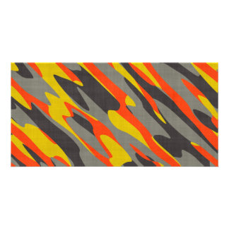 Colorful Camouflage Texture Customized Photo Card