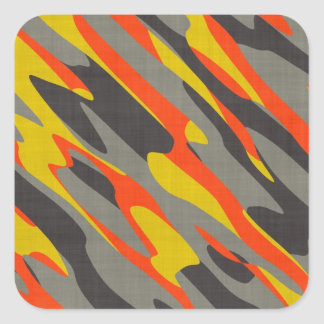 Colorful Camouflage Texture Square Sticker