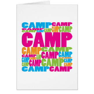 Colorful Camp Card