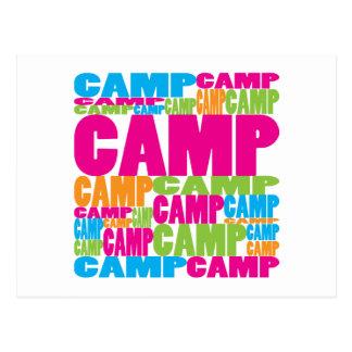 Colorful Camp Postcard
