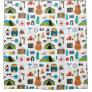 Colorful Camping Gear Shower Curtain