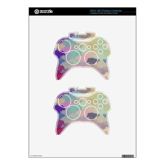 colorful camuflage pattern girly hipster trendy xbox 360 controller skin