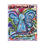 Colorful Cancer Angel Canvas Art Print Gallery Wrapped Canvas