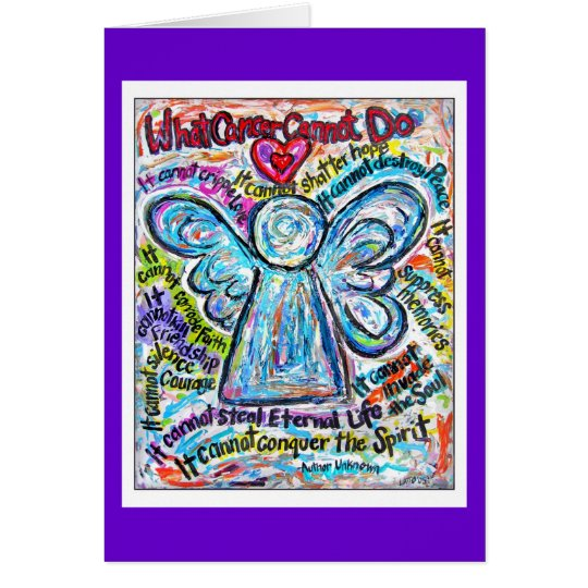 Colorful Cancer Angel Card