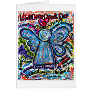 Colorful Cancer Angel Greeting Card or Note Cards