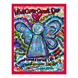 Colorful Cancer Angel Invitation