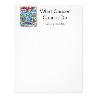 Colorful Cancer Angel Letterhead