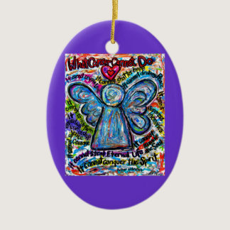 Colorful Cancer Angel Ornament Pendant Customized