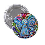 Colorful Cancer Angel Painting Art Button or Pin