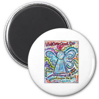 Colorful Cancer Angel Painting Magnet