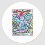 Colorful Cancer Angel Painting Stickers