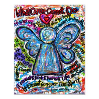 Colorful Cancer Angel Photo Art Print